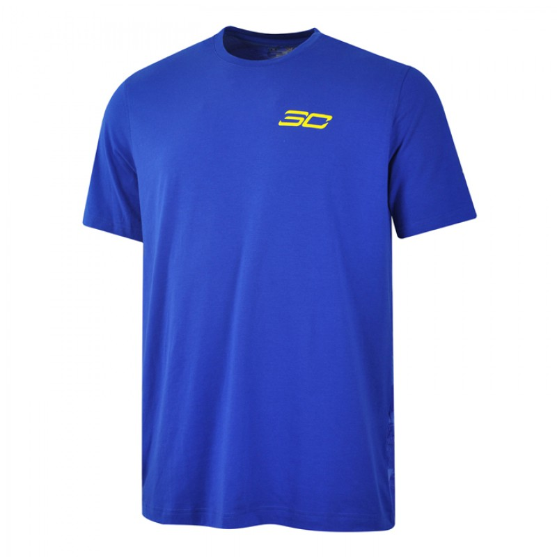 Jual Pakaian Basket Under Armour SC30 Blessed With Game Tee Blue Original  2bb844c2ee
