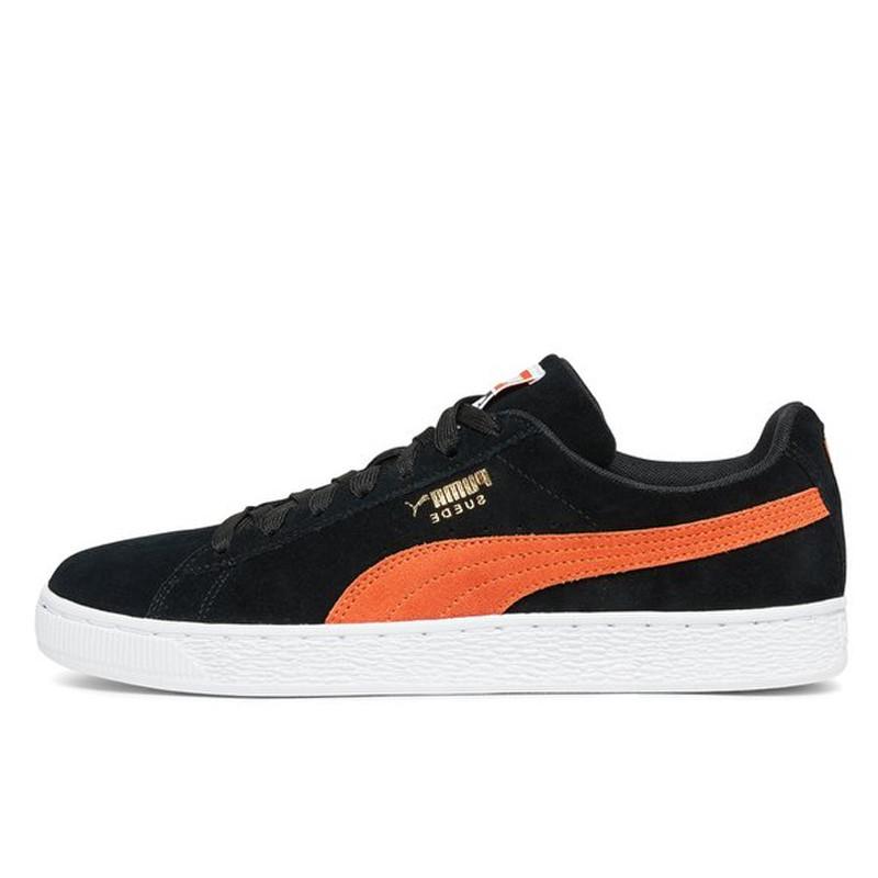 sale retailer 3243b 46da4 Jual Sepatu Sneakers Puma Suede Classic Black Orange ...
