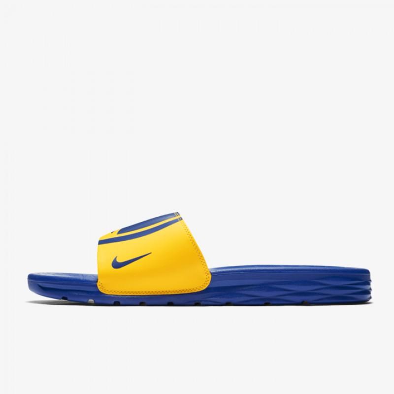 267e8086fad5c Jual Sandal Basket Nike Benassi NBA Golden State Warriors Yellow Original