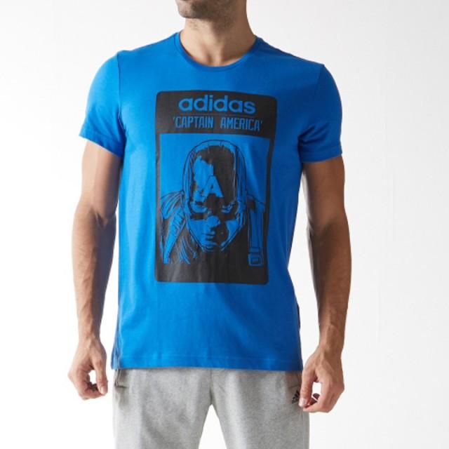 Jual Pakaian Casual Adidas Captain America Tee Blue Original