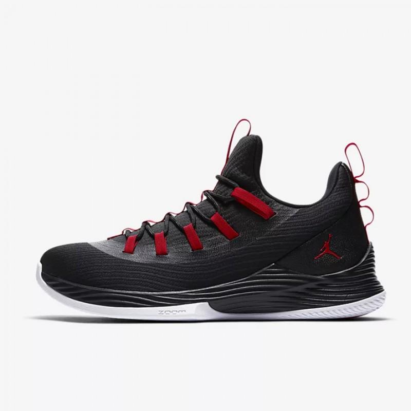 Jual Sepatu Basket Jordan Ultra.Fly 2 Low Black Red Original ... a586cd2f31