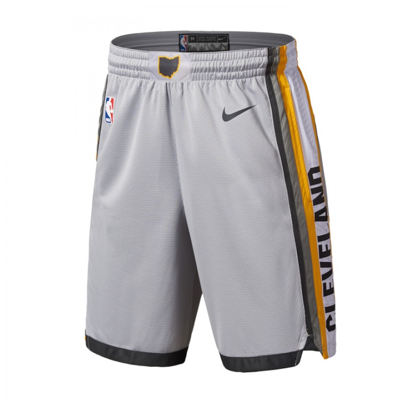 Jual Celana Basket Nike Cleveland Cavaliers City Edition Swingman Shorts  Grey Original  6ab6ee260