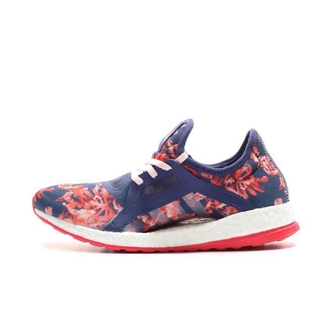 d6f2422ded545 Jual Sepatu Lari Adidas WMNS Pure Boost X Blue Floral Original ...