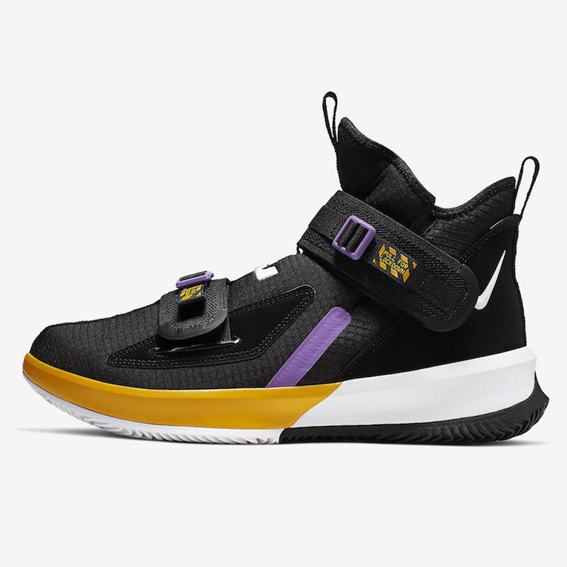 Jual Sepatu Basket Nike Lebron Soldier 13 Lakers Original ...