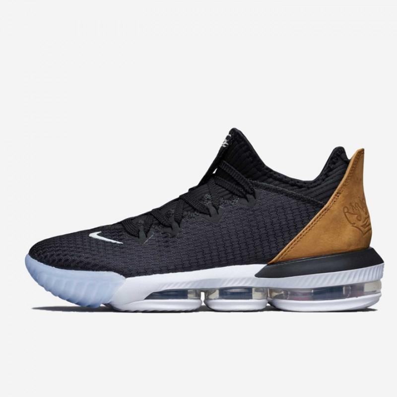 new concept 70f2a 85064 Jual Sepatu Basket Nike Lebron 16 Low Black Wheat Original ...