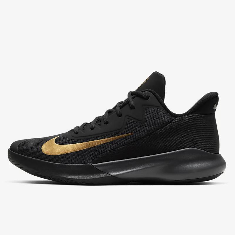 Jual Sepatu Basket Pria Nike Precision 4 Black Metallic Gold Original Termurah Di Indonesia Ncrsport Com
