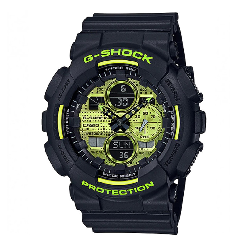 Jam Tangan  Casio G-Shock Digital Analog Dial Black Resin Strap
