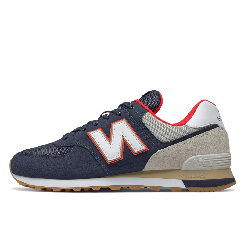Sepatu Sneakers New Balance 574 Classic Navy Red