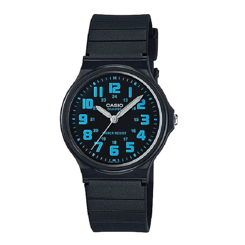 Jam Tangan  Casio General Black Dial Black Resin Strap
