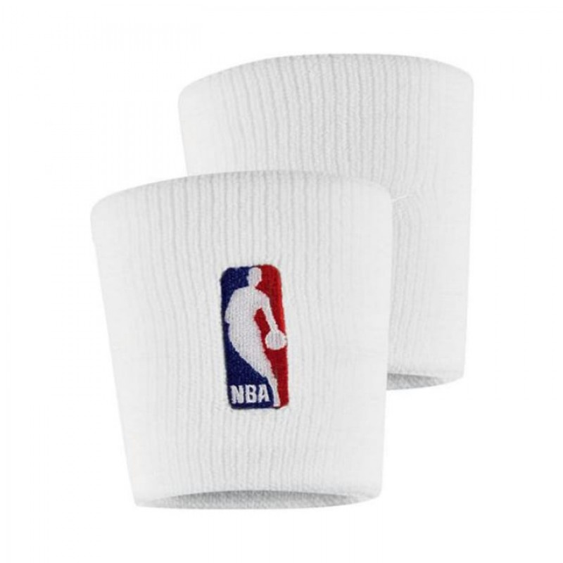 62907bb2c6539 Jual Aksesoris Basket Nike Elite NBA Wristbands White Original | Termurah  di Indonesia | Ncrsport.com