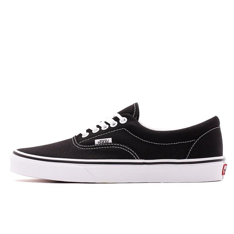 0a69cfd9e5af Jual Sepatu Sneakers Vans Era Black White Original