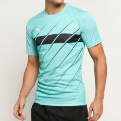 Baju Football Puma Play Graphic Tee Blue Tosca