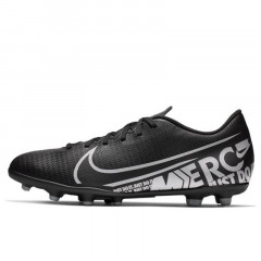 Sepatu Football Nike Vapor 13 Club Firm Ground Black