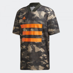 Baju Football Adidas Tan Graphic Jersey Trace Khaki