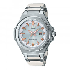 Baby-G MS Series Tough Solar Silver Dial White Resin White