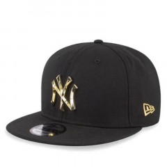 950 New York Yankees Metal Badge CNY Snapback Black